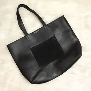 Olivia Clergue Paris Black Marceline Pocket Tote